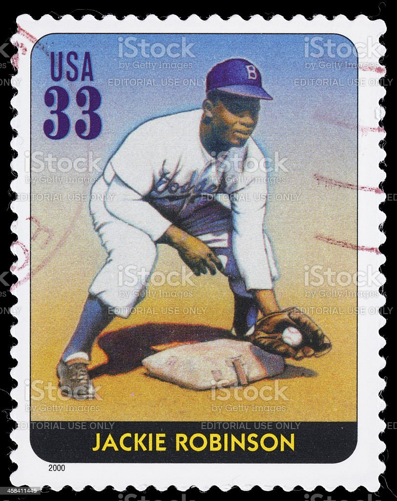 USA Jackie Robinson postage stamp royalty-free stock photo