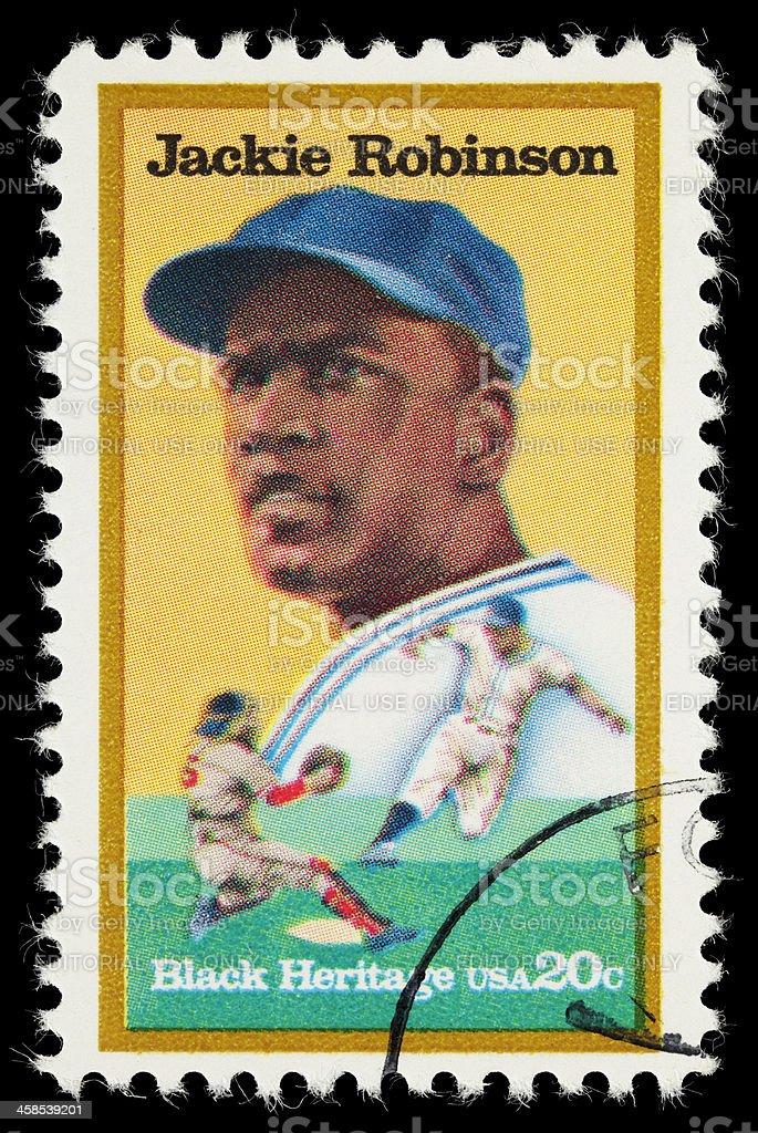 USA Jackie Robinson postage stamp royalty-free stock photo