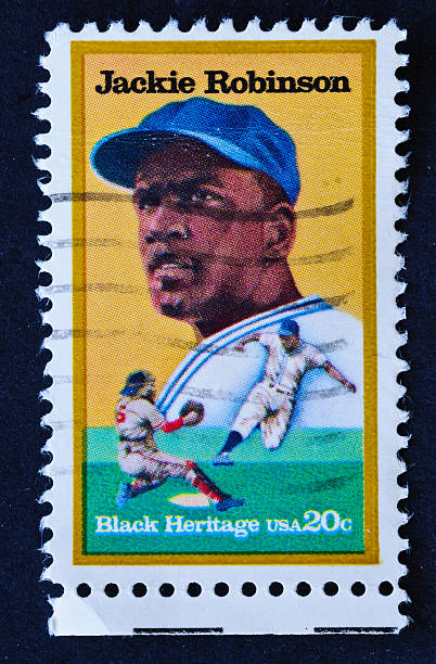 jackie robinson stamp - jackie robinson stock photos and pictures