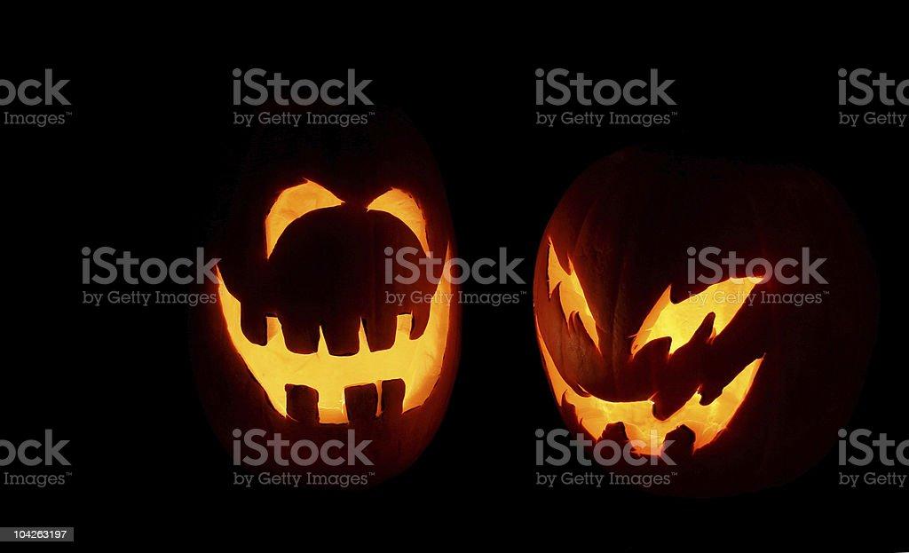Jack-o-Lanterns stock photo