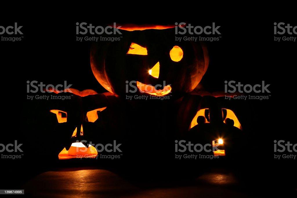 Jack-o-Lanterns royalty-free stock photo