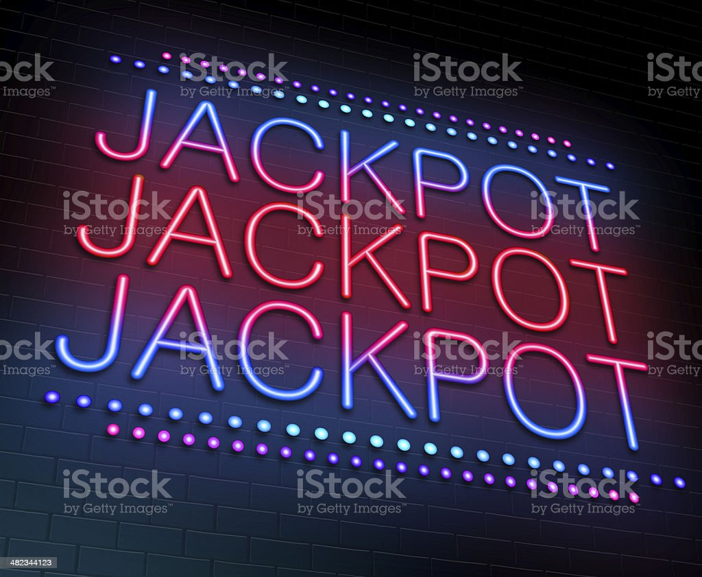 Jackpot concept. stock photo