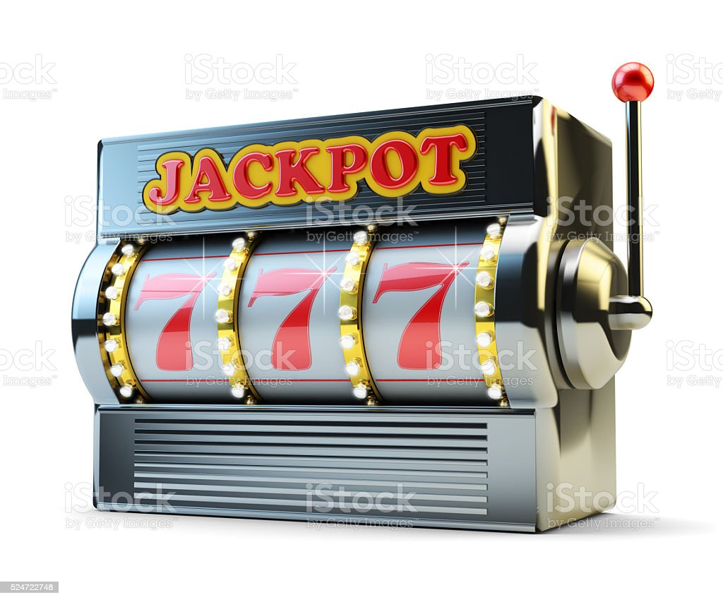 Jackpot, gambling gain, luck and success concept stock photo