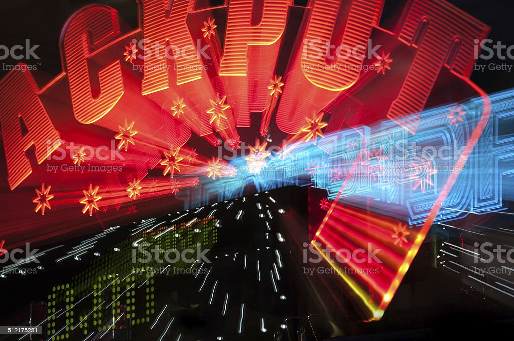 Jackpot winner sign from casino stock photo