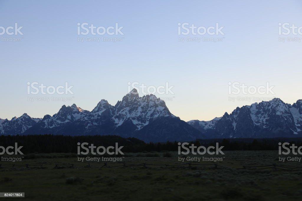 Jackson at dusk stock photo