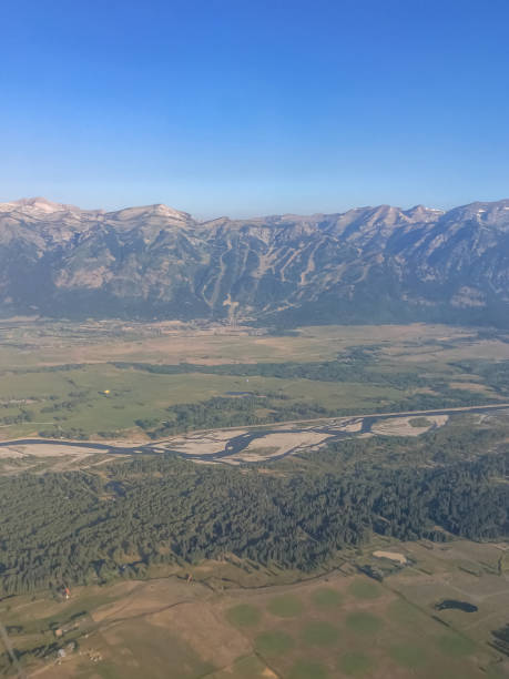 Jackson Hole Aerial stock photo