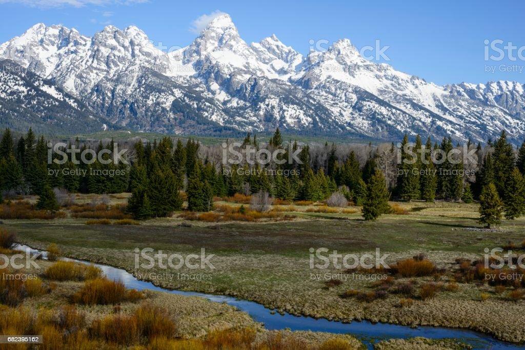 Jackson Hole, Grand Teton National Park royalty-free stock photo
