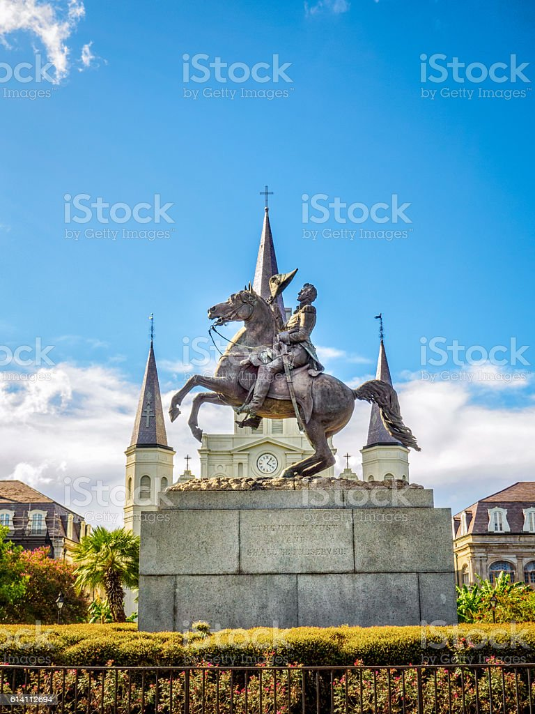Jackson Horse St. Louis Cathedral stock photo