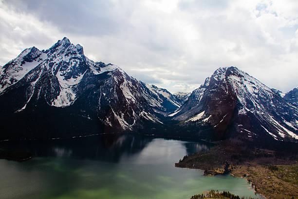 Jackson Lake From Above II stock photo