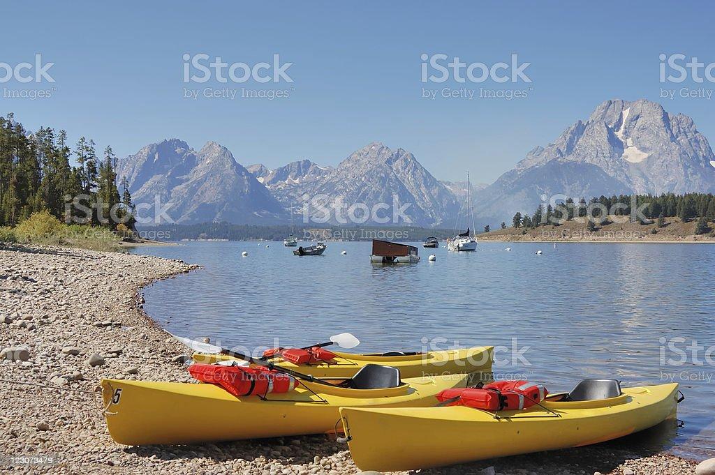 Jackson Lake, Wyoming stock photo