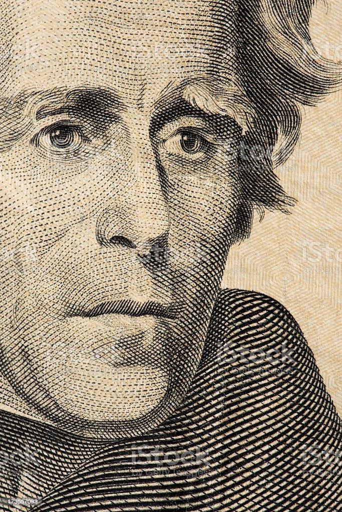 Jackson on a 20$ bill royalty-free stock photo