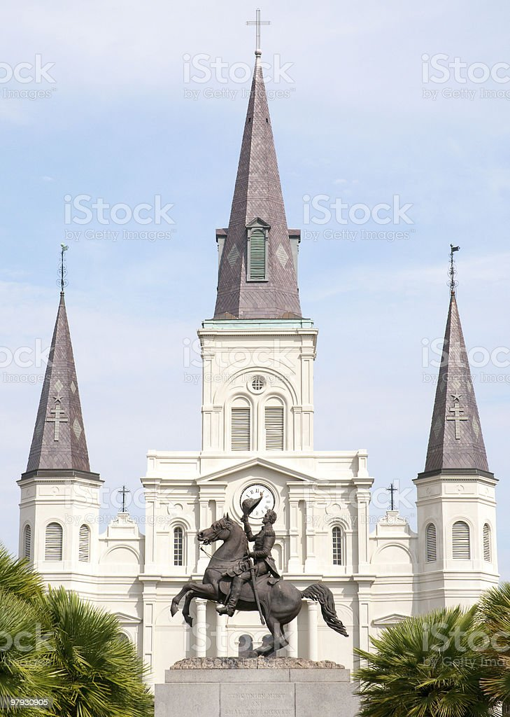 Jackson Square and St. Louis Cathedral royalty-free stock photo