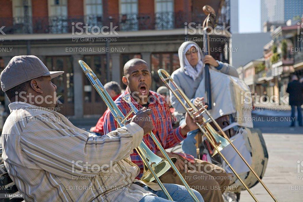 Jackson Square Band stock photo