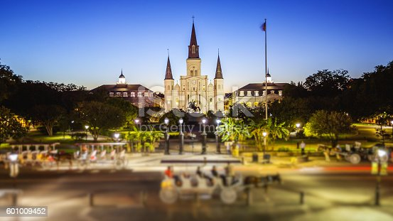 564604962 istock photo Jackson Square in New Orleans, Louisiana French Quarter at Night 601009452