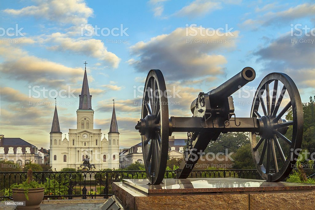Jackson Square in New Orleans stock photo