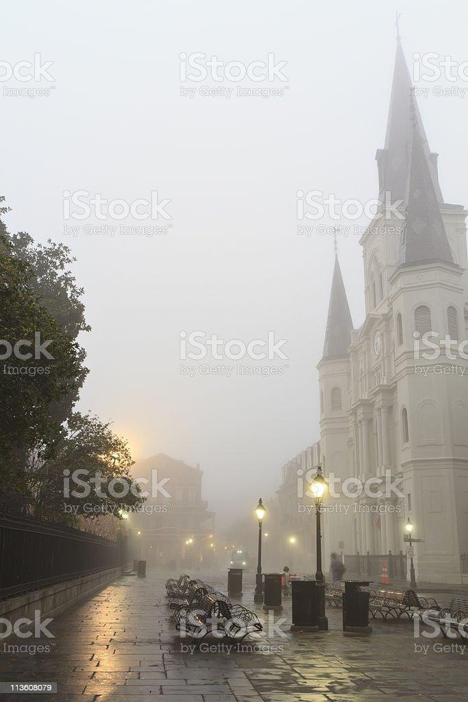 Jackson Square Misty Morning stock photo