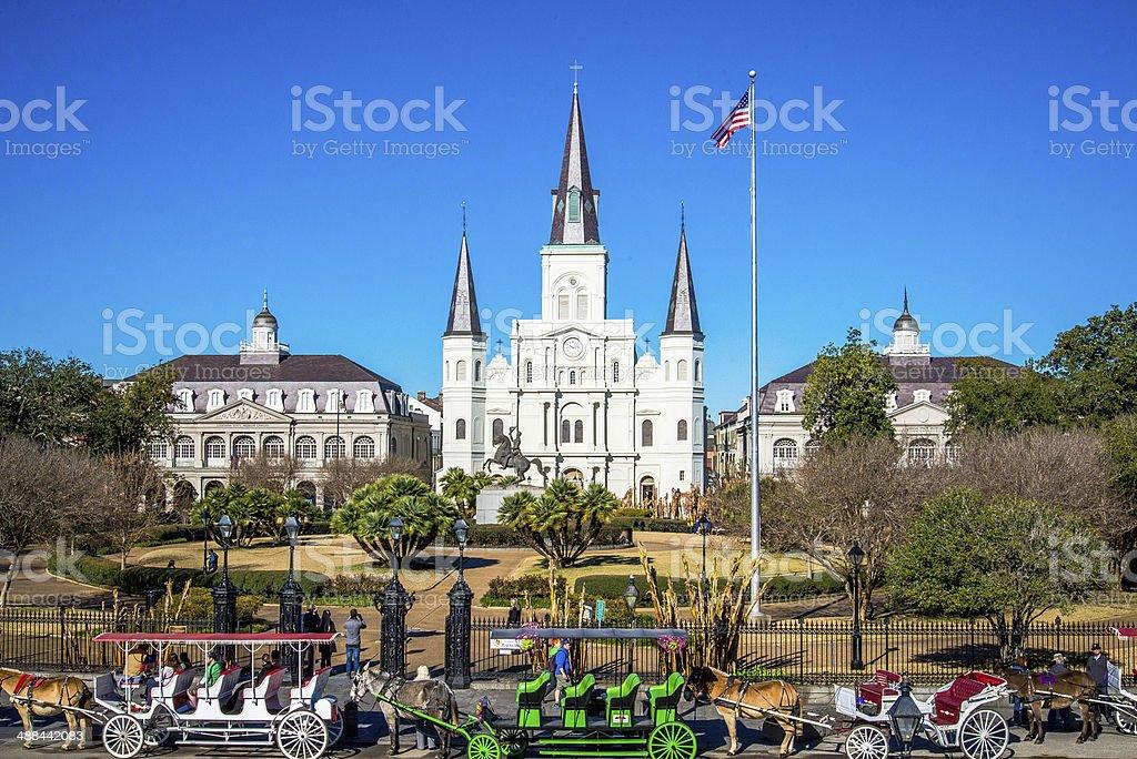 Jackson Square, New Orleans stock photo