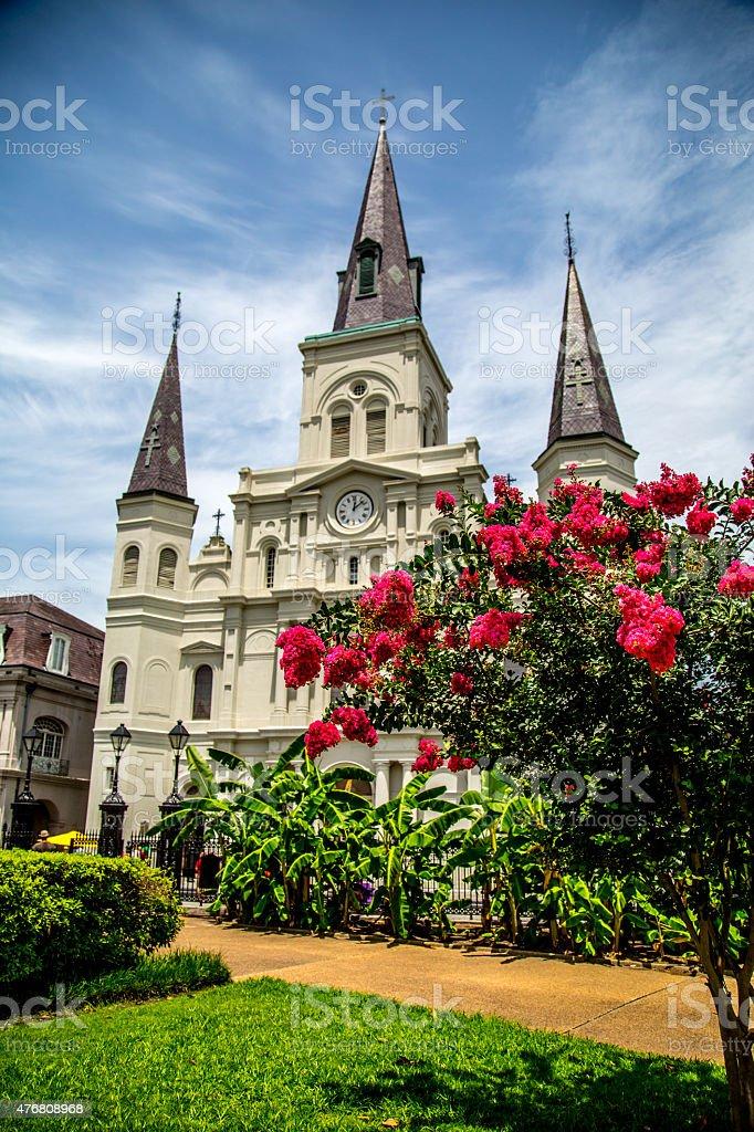 Jackson Square Park New Orleans stock photo