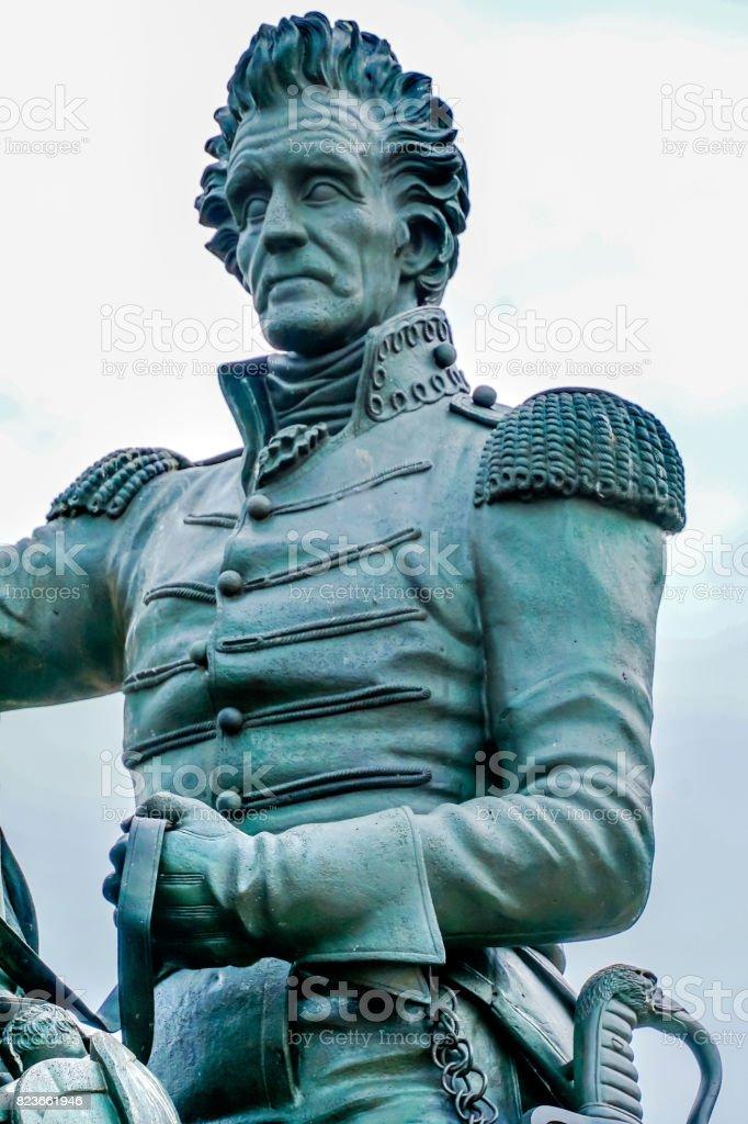 Jackson Statue Close Up Lafayette Park Pennsylvania Ave Washington DC stock photo