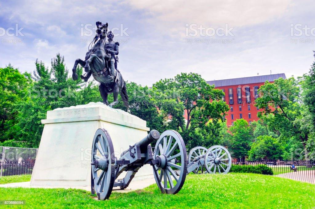 Jackson Statue Lafayette Park Court of Appeals for Federal Circuit Washington DC stock photo