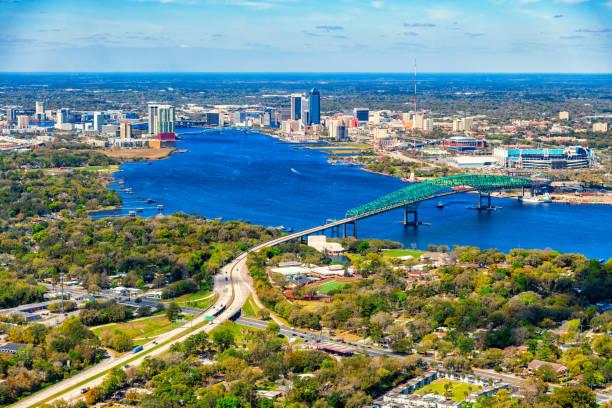 Jacksonville Florida Aerial stock photo