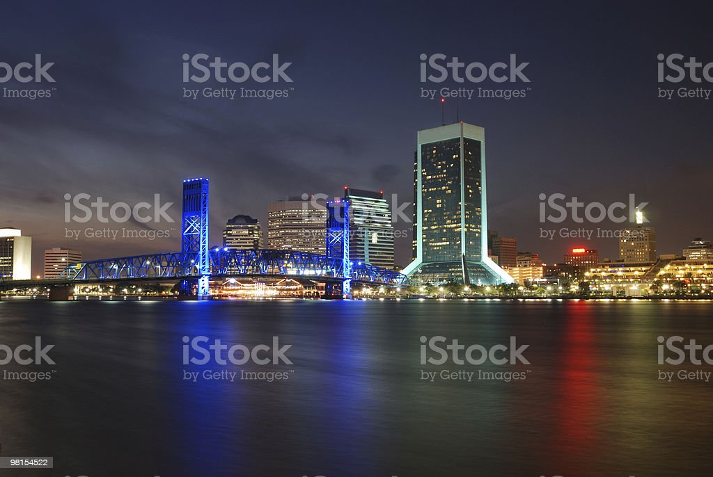 Jacksonville Florida Downtown at River Front royalty-free stock photo