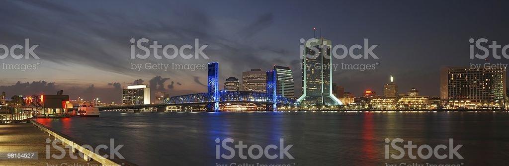 Jacksonville Florida Downtown Panoramic royalty-free stock photo