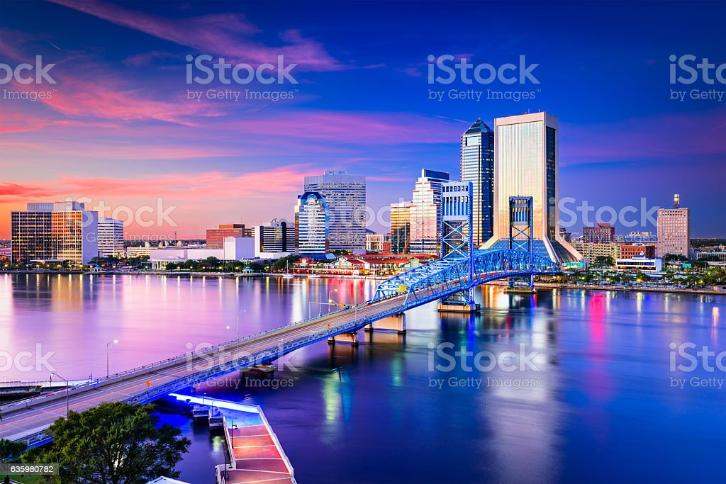 jacksonville florida skyline stock photo more pictures of aerial view istock. Black Bedroom Furniture Sets. Home Design Ideas