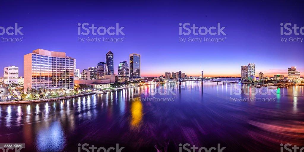 Jacksonville, Florida, USA Panorama stock photo