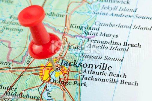 istock Jacksonville Map, Florida - USA 185253237