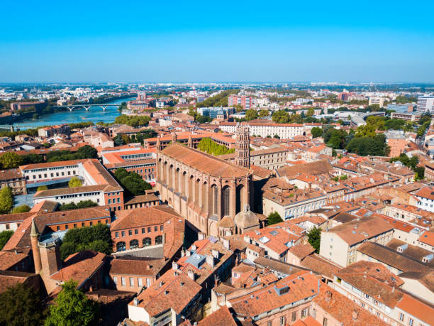 Jacobins Church in Toulouse, France stock photo