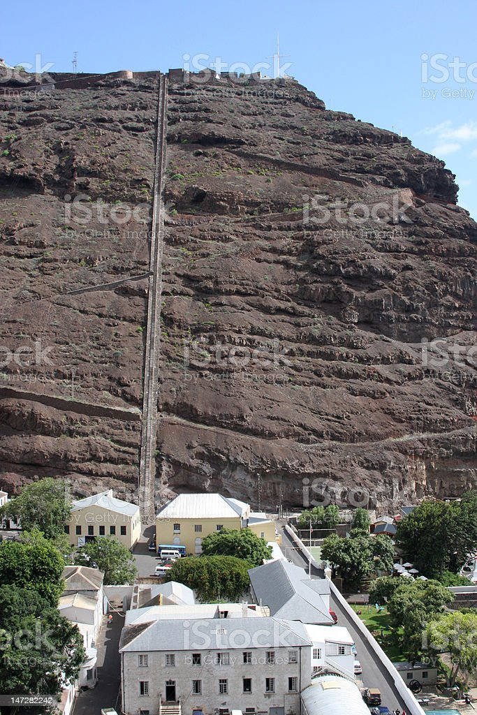 Jacobs Ladder in Jamestown on St Helena Island South Atlantic stock photo