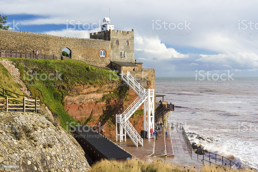 Jacob€™s Ladder Sidmouth Devon stock photo