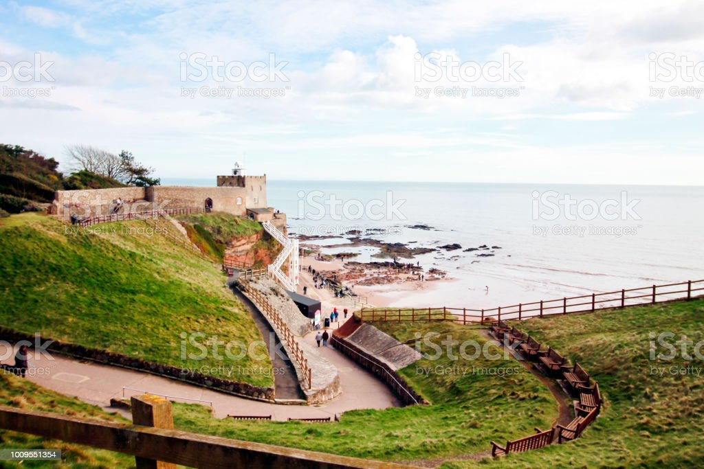 Jacobs Ladder, Sidmouth - Royalty-free Beach Stock Photo