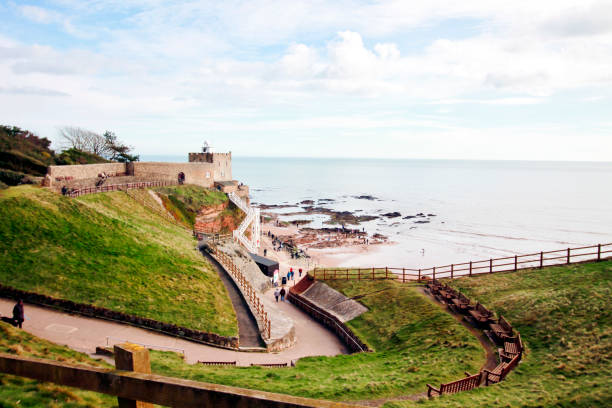 Jacobs Ladder, Sidmouth stock photo