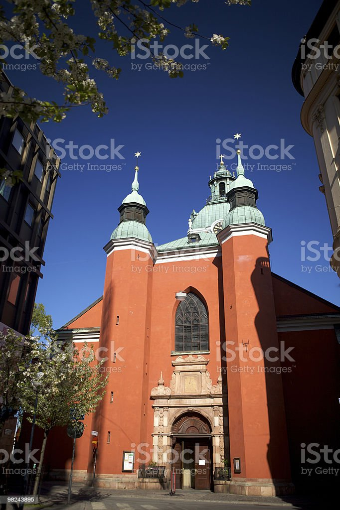 Jacobs Red Church royalty-free stock photo