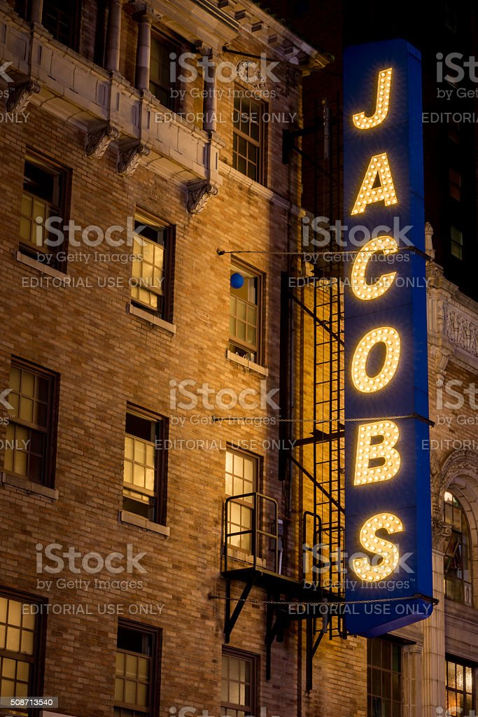 Jacobs Theater stock photo