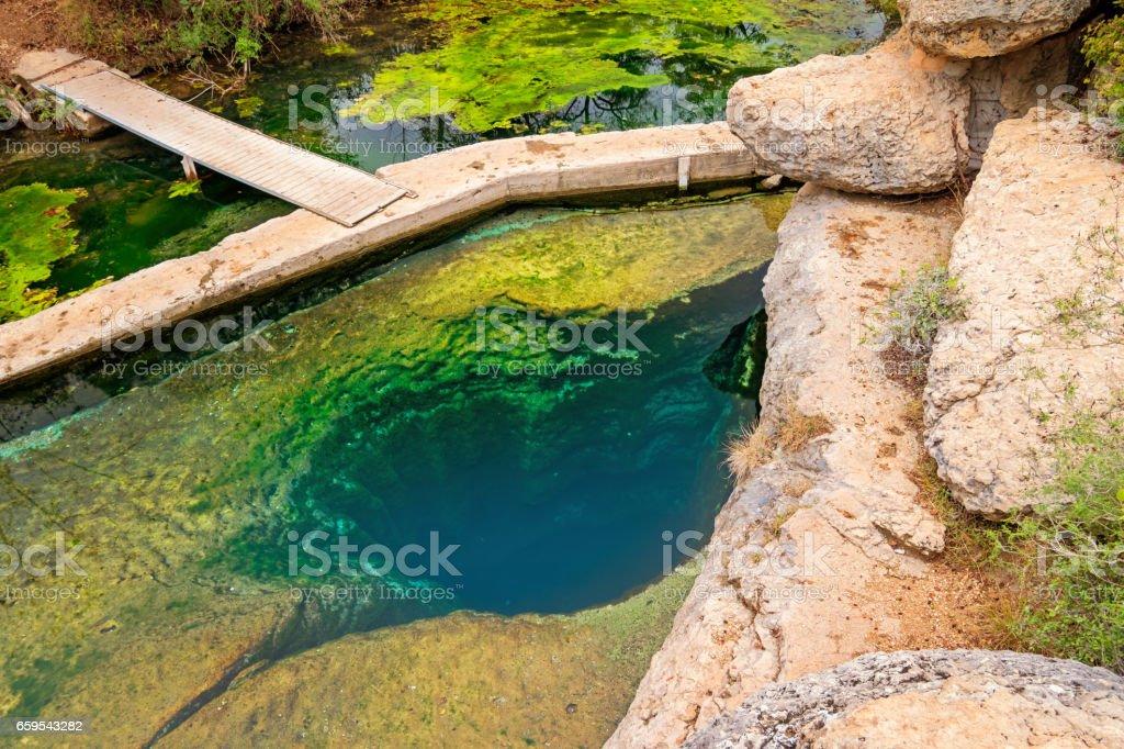 Jacob's Well near Austin Texas USA stock photo