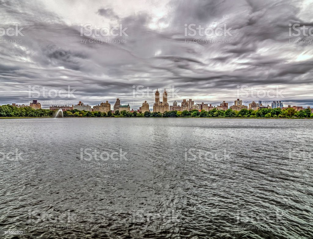 Jacqueline Kennedy Onassis Reservoir Central Park Reservoir stock photo