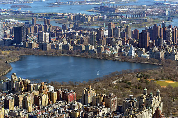 Jacqueline Kennedy Onassis Reservoir in Central Park stock photo