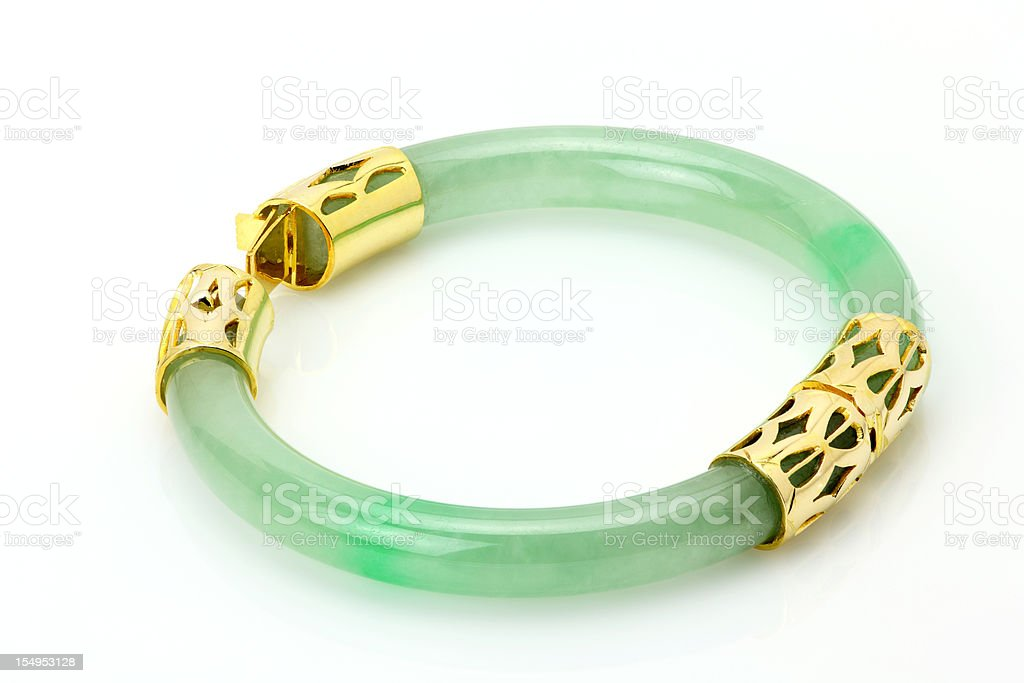 Jade Bracelet stock photo