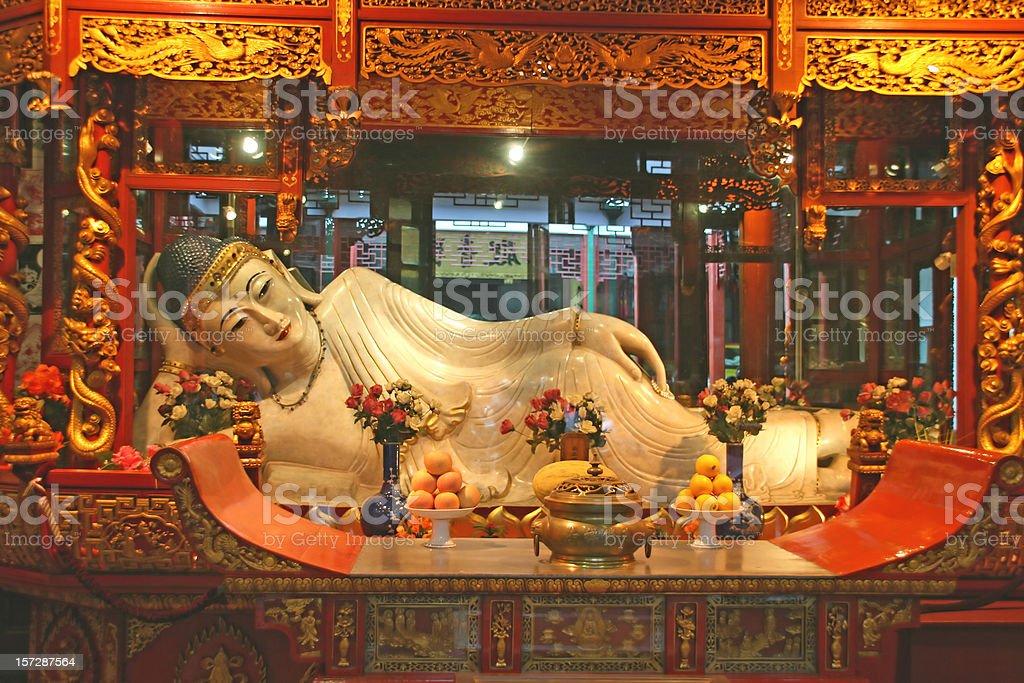 jade Buddha statue stock photo