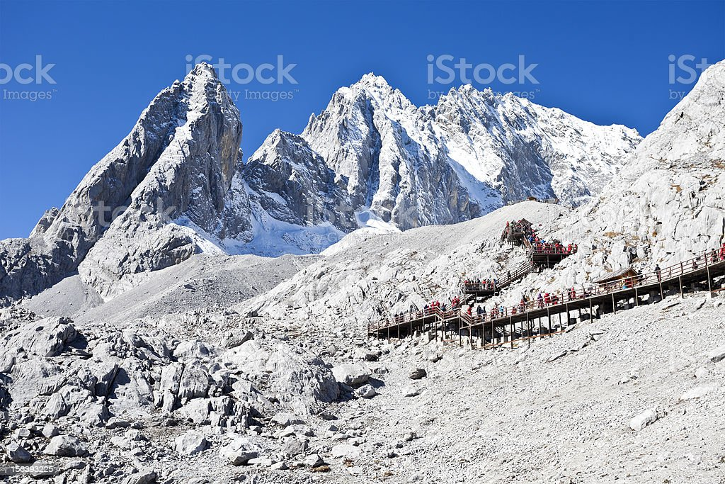 Jade Dragon Snow Mountain in Lijiang, Yunnan, China royalty-free stock photo