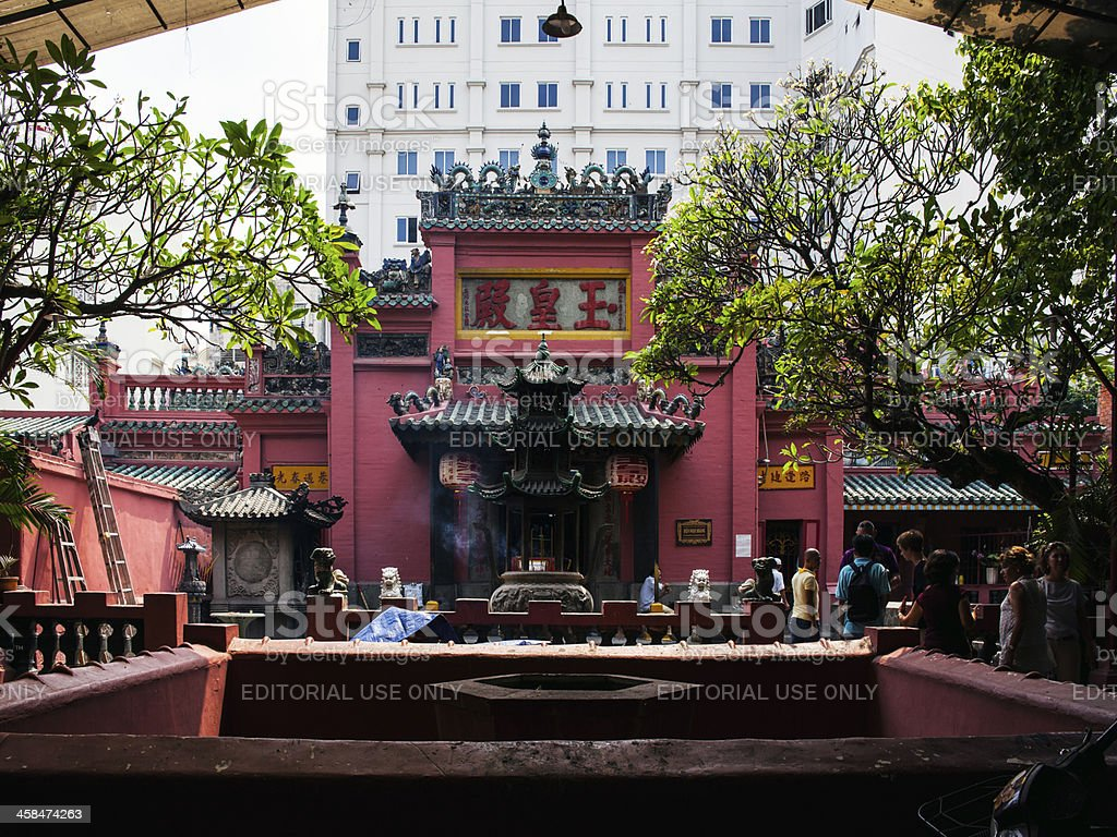 Jade Emperor Pagoda in Ho Chi Minh City. stock photo