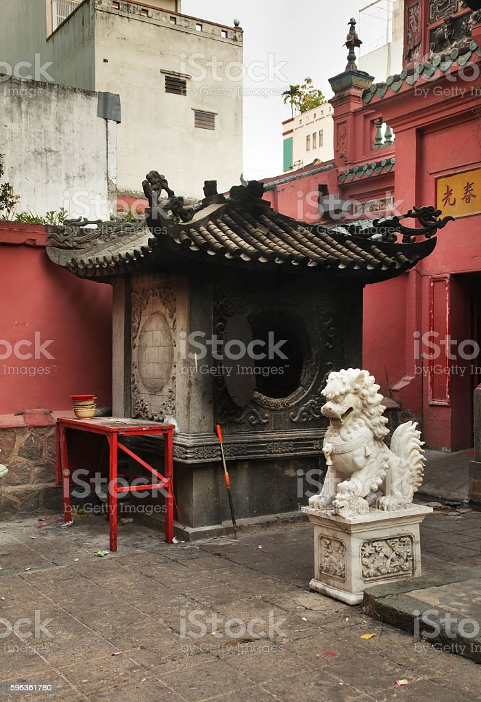 Jade Emperor Pagoda  in Ho Chi Minh. Vietnam royalty-free stock photo