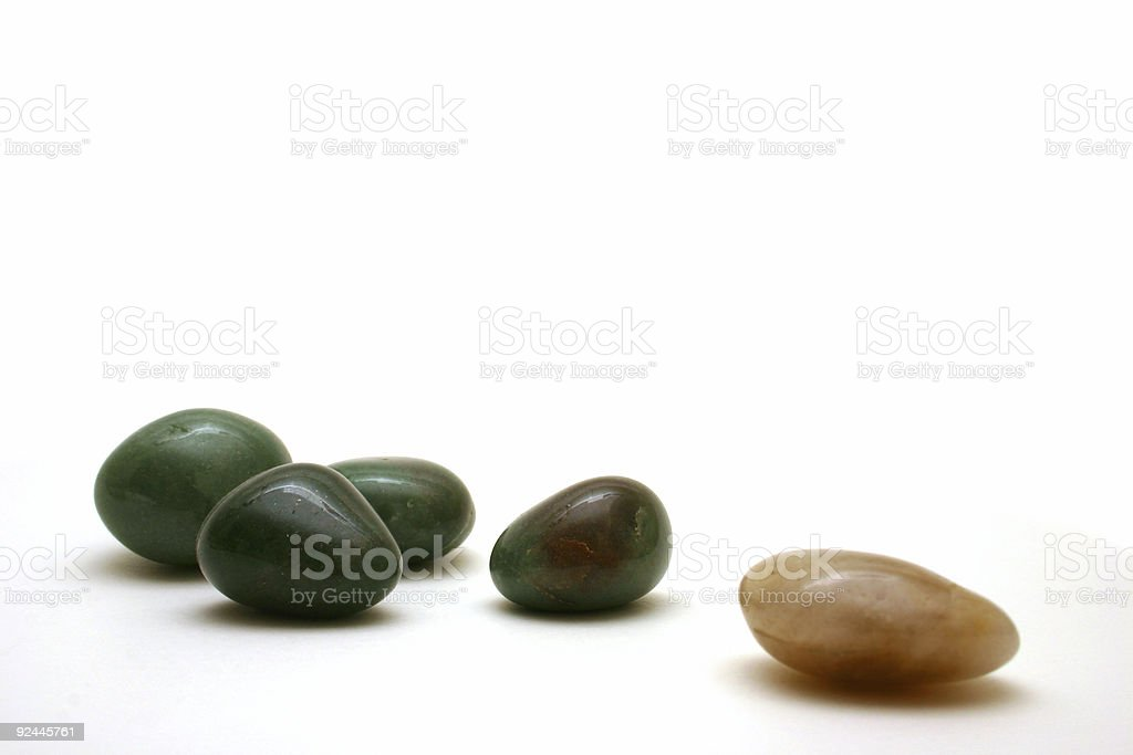 Jade Pebbles stock photo