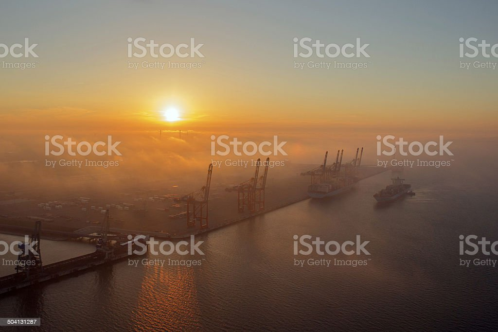 Jade Weser Port stock photo