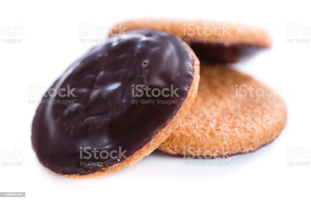 Jaffa Cakes (isolated on white) stock photo
