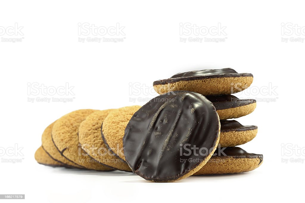 Jaffa cakes - traditional sweet cookies stock photo