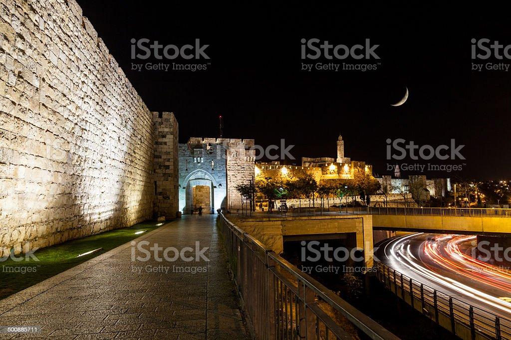 Jaffa Gate, Jerusalem stock photo